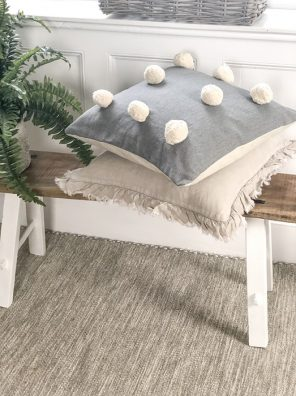 18-MW Pom Pom Cushion Grey