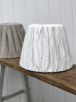 23-MW Linen Lampshade - White