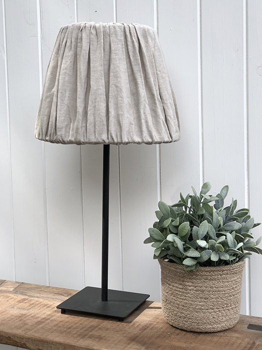 25-MW Linen Lampshade - Taupe