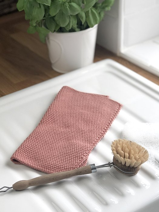 29-IBL Knitted Dish Cloth - Desert Rose