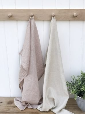 35-IBL Linen Feel Tea Towel Taupe