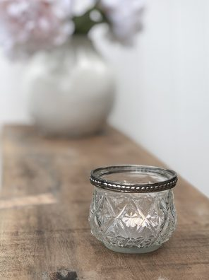 59-CA Pretty Glass Tealight holder