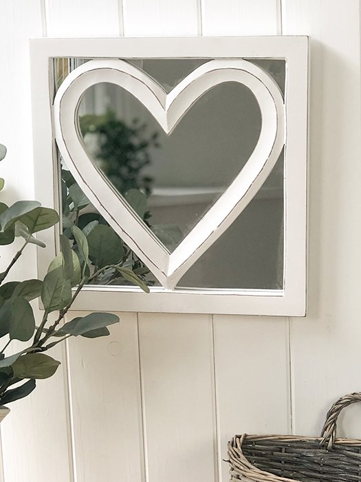 91-RH Heart Inlay Mirror